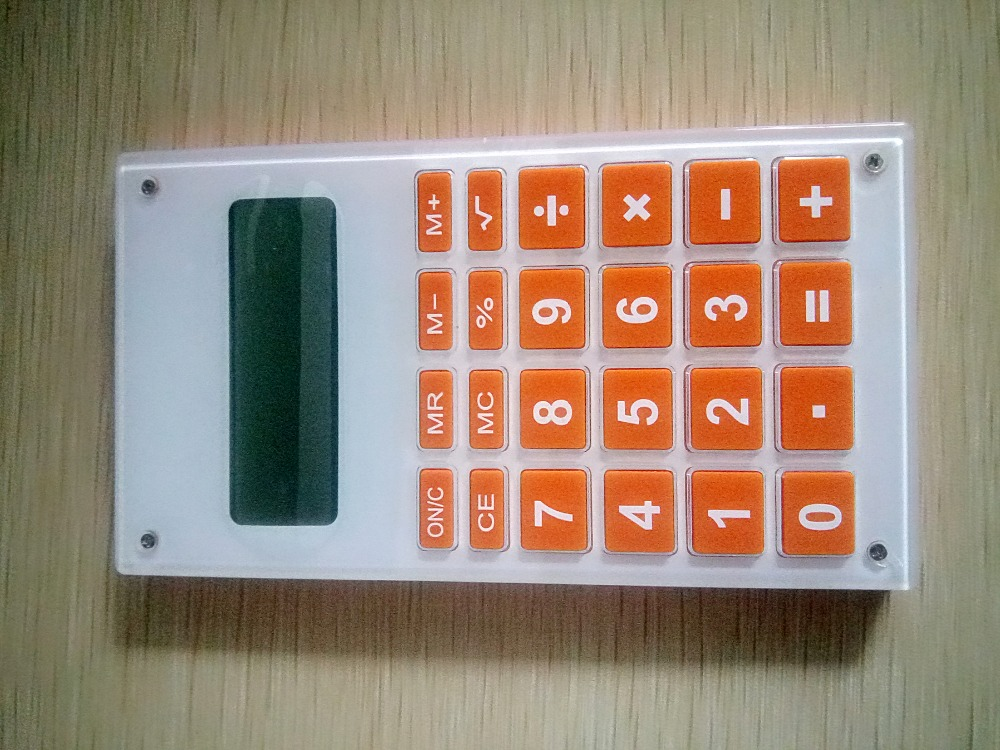 Promotional convenient plastic desktop calculator,12 digits