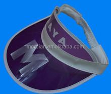 Sun visor factory direct sell cheap transparent plastic visor