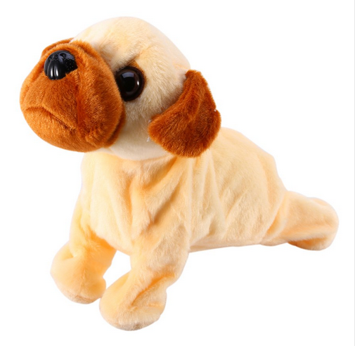 Lovely Plush Sound Control Electronic Dogs Pets Baby Gift Toy