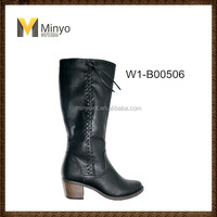Minyo high knee fashionable and durable woman boots