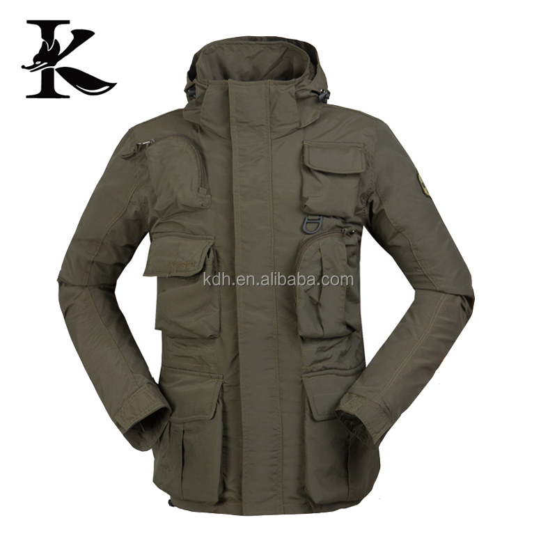 Leisure warm winter jacket with fleece inner for fishing
