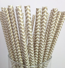 Party Supplies Disposable Chevron Paper Drinking Straws