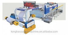 Gum mounting machine for corrugated cardboard