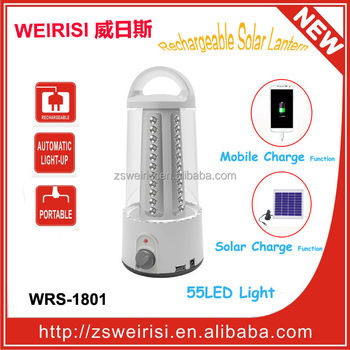 Solar Rechargeable LED Camping Light (WRS-1801)