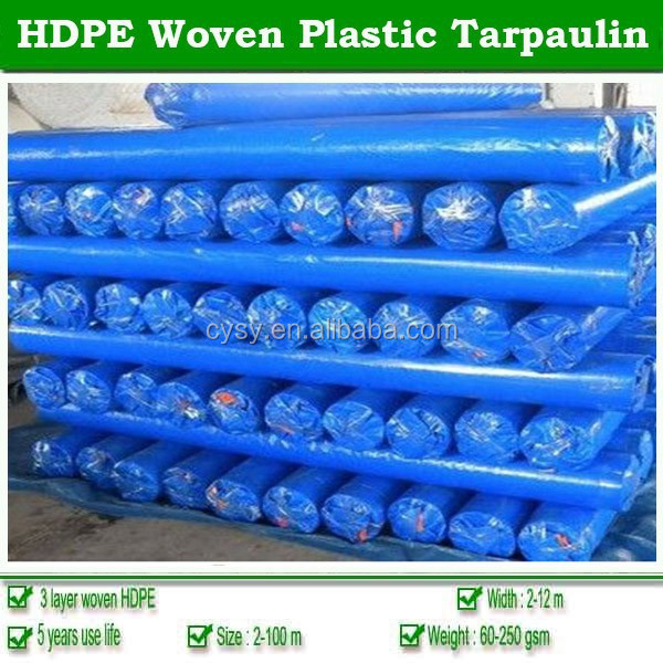 Plastic woven fabric PE tarp for pool