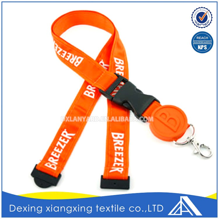 Polyester add satin adjustable thick wholesale lanyard and badge holder factory