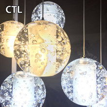 Large luxury stairs k9 crystal ball pendant lights hotel high ceiling modern crystal chandelier lighting