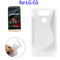 China Manufacturer S-Shaped Soft TPU Cover Case for LG G5, for LG G5 Clear Cover