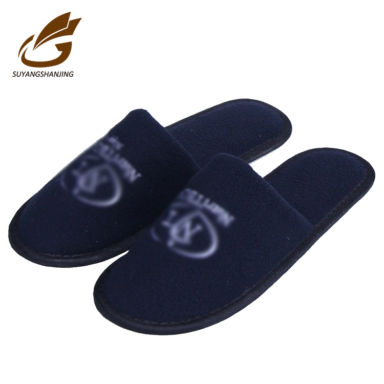 Washable Personalized Hotel Disposable Airline Slipper With Customized Embroidery Logo