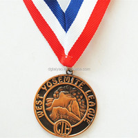 Personalized Metal Commemorative Medal With Ribbon