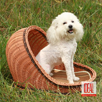 China Wholesale Rattan Dog House/Best Selling Excellent Quality custom indoor dog houses