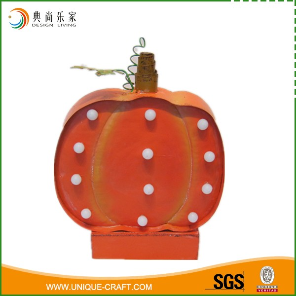 LED Light Metal Pumpkin For Harvest