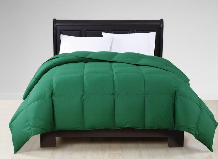 Green Color Cotton Goose Down Comforter
