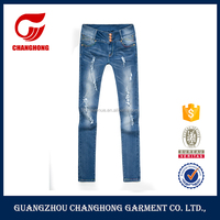 OEM custom denim jeans wholesale low waisted new model jeans for lady