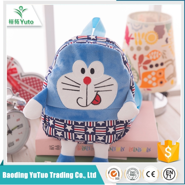 china supplier logo personalized custom kids plush backpacks