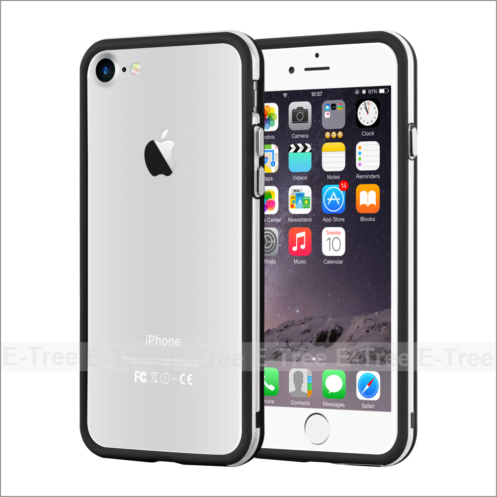 Transparent Clear TPU Dual color Gel case for iphone 7, For iphone7 Moble phone hybrid case