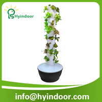 Vertical Column Hydroponic Aeroponic Planting System