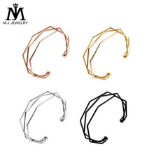 2017 Factory Directly Korean Stainless Steel Multilayer Open Bangle for Women