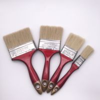 red plastic handle gold angle bloom paint brush