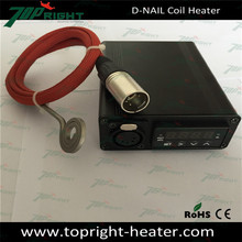 Portable electric dab nail temperature control box with gr2 titan nail