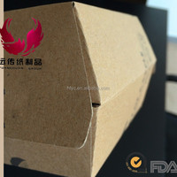 2016 Wholesale box paper packaging for burger corrugate paper