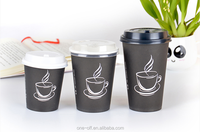 Paper coffee cup with handle, custom printed paper cup with handle