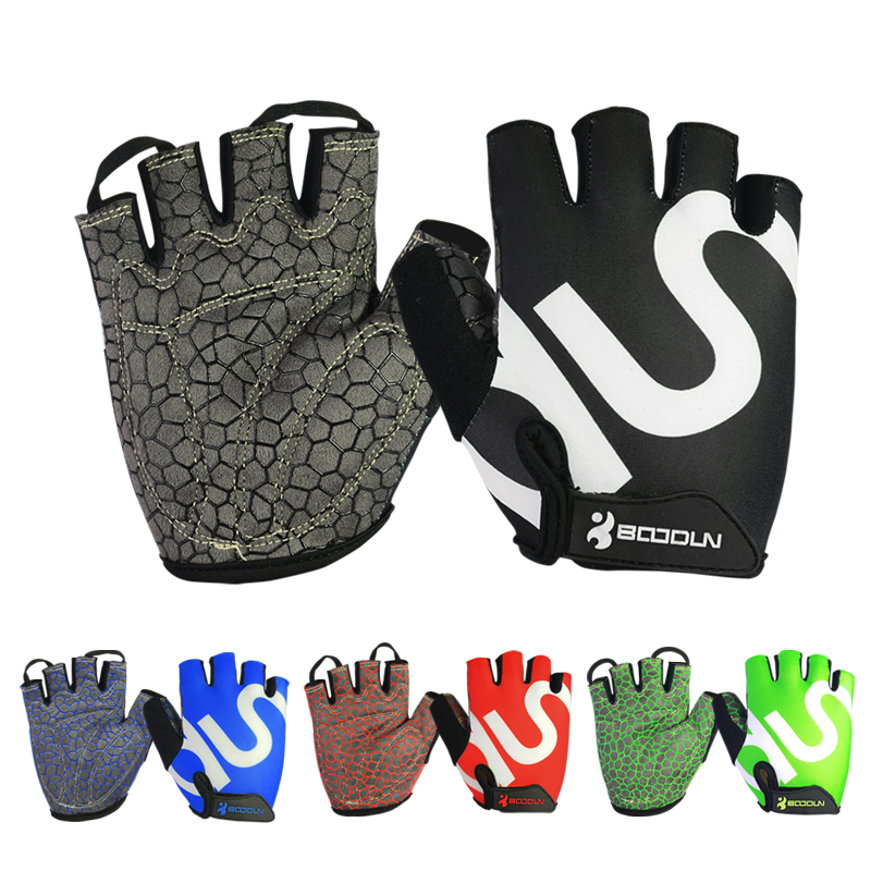 Boodun Cycle Gloves Gloves Half Finger Biking Gloves Anti-slip <strong>Shock</strong>-absorbing Gel Pad Breathable