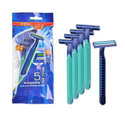 plastic and rubber straight razor fixed head razor