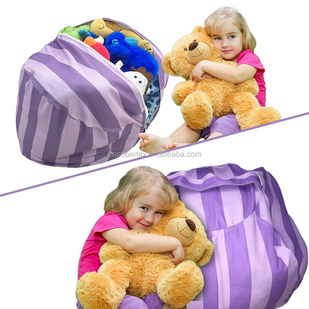 Latest Oversided Indoor Storage Bean Bag,Stuffed Animal Toys Bean Bag Ottoman Furniture Bean Bag Chairs