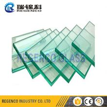 Tinted Black Color Float Material Laminated Glass 6mm For Table Top