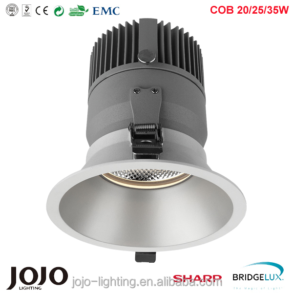 square round cob down light dimmable and adjustable