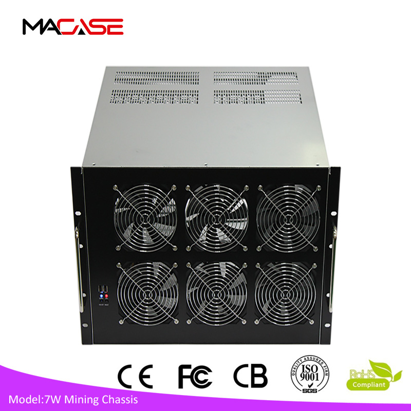 2017 hot sale customized 4U/6U/8U bitcoin miner rig chassis mining cases Ufasoft Coin