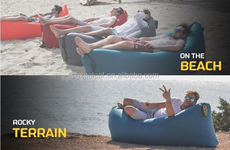 Lightweight Outdoor Nylon Inflatable Lazy Hangout Sleeping Air Bag / Fashional Lounge Sofa/air bed