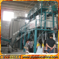 200T/24Hmaize flour milling machine which can produce all kinds of produces, like super maize meal, refined maize flour