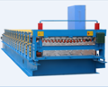 High speed machinery double layer steel forming line
