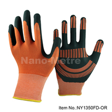 NMSAFETY Nitrile Work Gloves 13g black nitrile glove nitrile dots on coating improve grip performance