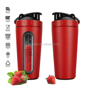 Bodybuilding style custom stainless steel metal shaker bottle 700ml with tritan scale protein joyshaker bottle uk