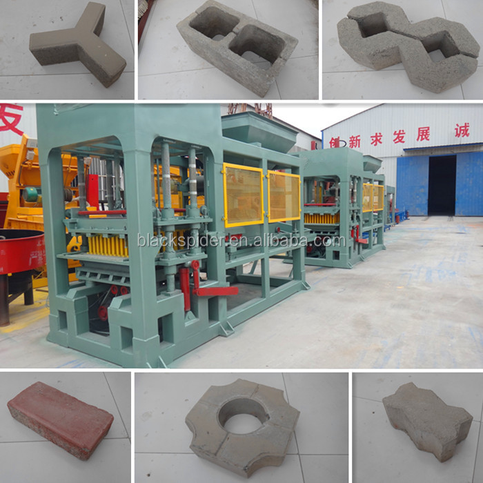 road construction equipment QT5-15 automatic brick machine, color concrete paver block making machine price