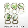 2017 wholesale leaf design fridge magnet bottle opener