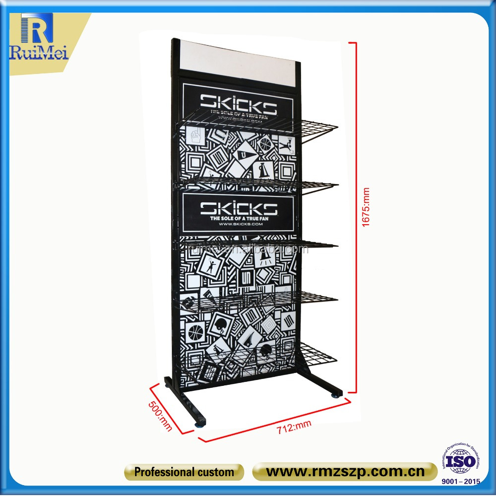 free standing metal multi-tier sport stand shoes display rack
