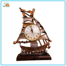 Alibaba china antique life size resin clock statue / Resin ship statue in home decor