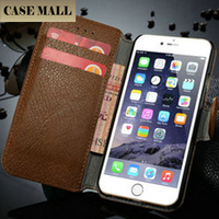 CaseMe Luxury Genuine Leather Case for iPhone 6s, for iPhone6s Flip Case, Cover for Apple iPhone 6s 4.7""