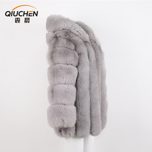 2018 sable color fox fur coat with factory price