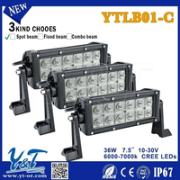 fast ship 36w led spot light bar battery powered led flood light bars auto led light bar 12v/ 24v dc