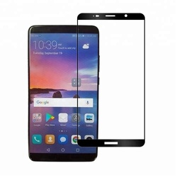 Factory Price 3D Colored Silk Printing Full Tempered Glass Screen Protector For Huawei Mate10 lite Mate 10 pro