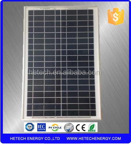 China Manufacture Tempered Glass 20W PV Solar Panel Price India for Home Use