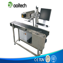 Promotion Price 30W Flying Co2 Laser Writing Machine for button production line with Logo&Letters