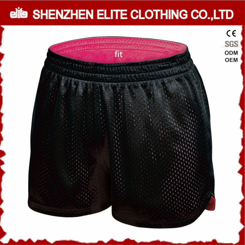 Custom Printed Women's Black Dry Fit Polyester Workout Shorts Cheap