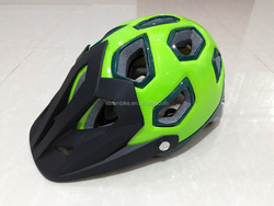 Hot sale cool design light weight mountain bicycle helmet/road bike helmet with extended rear coverage