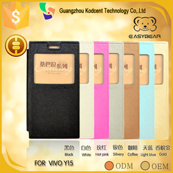PU leather mobile phone flip case for vivo y15, covers suitable for bbk vivo y15/y15t